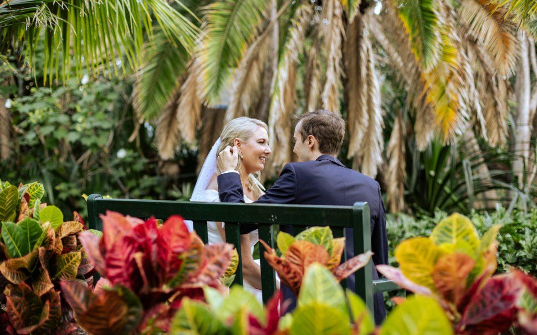Emma and Brett at City Botanical Gardens